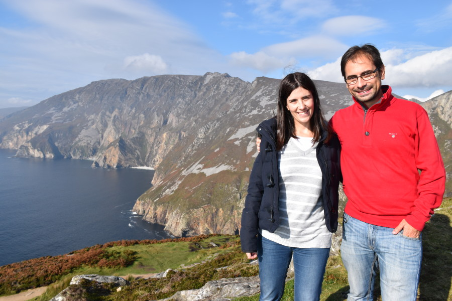 Us at the Slieve League cliffs