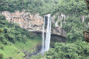 Caracol waterfall - view from the Cable Car