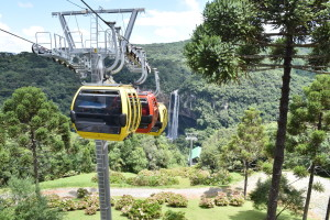 The cable car and Caracol waterfall