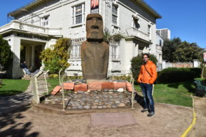 Fonck Museum - an original moai from Easter Island!